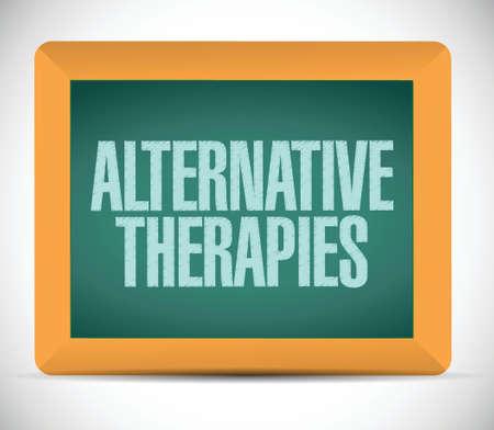 terapias alternativas: terapias alternativas de mesa de dise�o ilustraci�n de la muestra sobre un fondo blanco Vectores