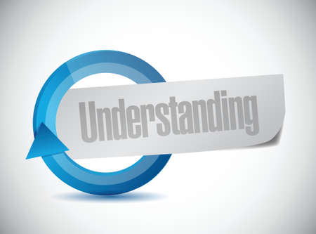 an understanding: understanding cycle sign illustration design over a white background Illustration