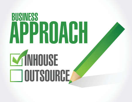 approach: business approach check list. inhouse illustration design over a white background