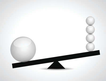 sphere balance illustration design over a white background