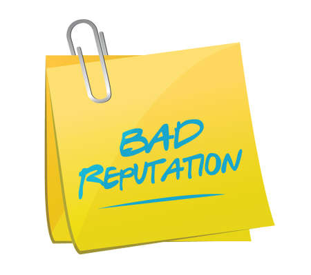 reputation: bad reputation memo post illustration design over a white background