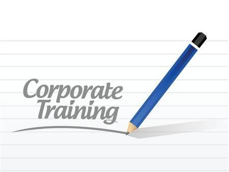 corporate training message post illustration design over a white background Illustration