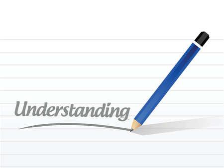 previews: understanding pencil sign illustration design over a white background