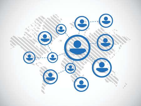 people diagram network illustration design over a white background Illustration