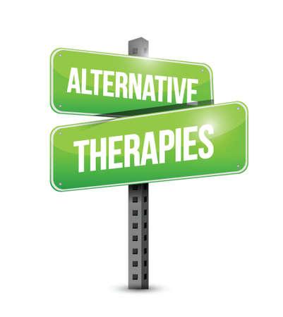 alternative therapies: alternative therapies sign illustration design over a white background Illustration