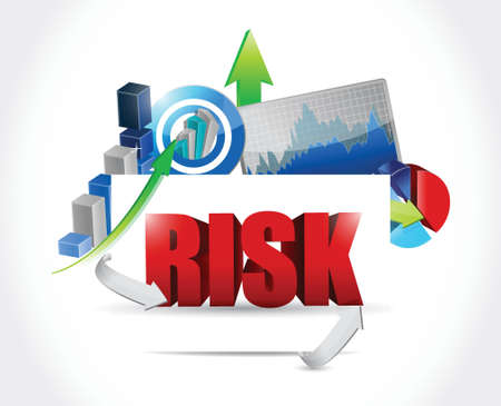 credit risk: risk business graph illustration design over a white background