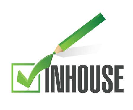 Inhouse checkmark illustration design over a white background