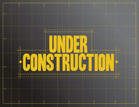 under construction sign illustration design over a black background Vettoriali