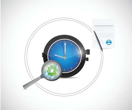 stock trader: tiempo y concepto de proceso de ilustraci�n, dise�o de trabajo sobre un fondo blanco