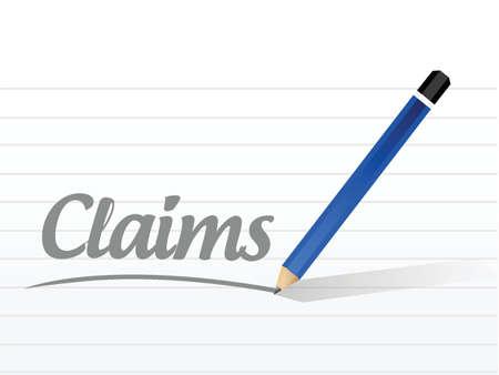 reimbursement: claims sign illustration design over a white background