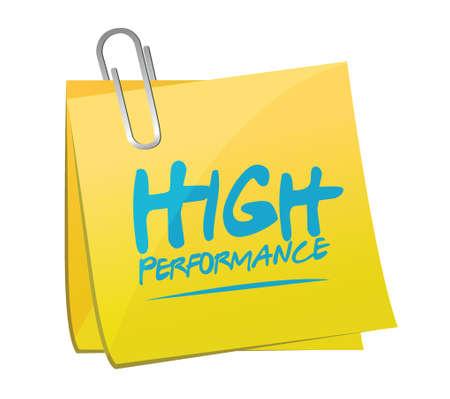 alto rendimiento: puesto memo ilustraci�n de alto rendimiento dise�o sobre un fondo blanco