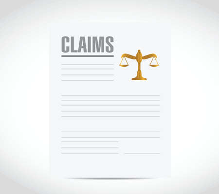 claim contract document illustration design over a white background