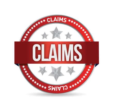 claims seal illustration design over a white background Illustration