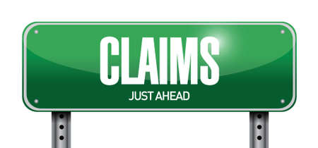 claims street sign illustration design over a white background
