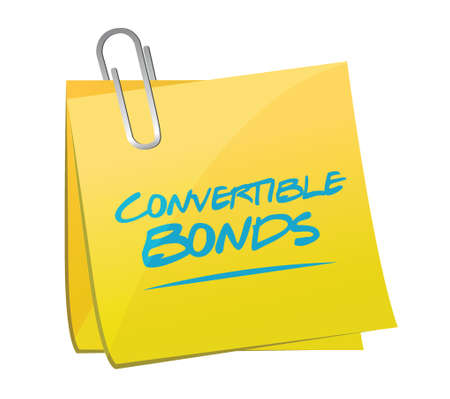 memo: convertible bonds memo post illustration design over a white background Illustration