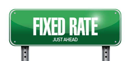 fixed rate: fixed rate post it memo illustration design over a white background