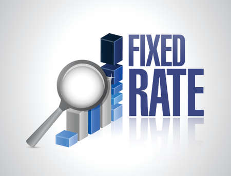 fixed rate business graph illustration design over a white background 向量圖像