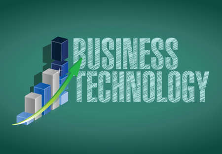 business technology graph illustration design over a chalkboard background