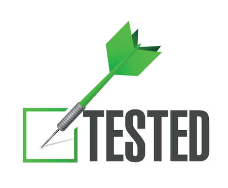 qualify: tested dart check mark of approval illustration design over a white background Illustration