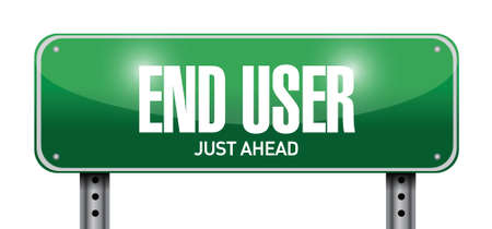 pcb: end user road sign illustration design over a white background Illustration