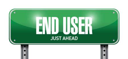 end user: end user road sign illustration design over a white background Illustration