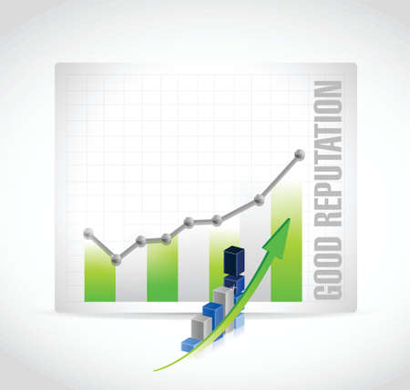 regard: good reputation business graph illustration design over a white background