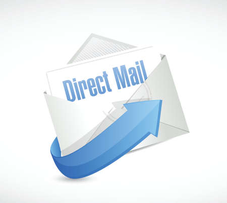 direct mail: direct mail email illustration design over a white background