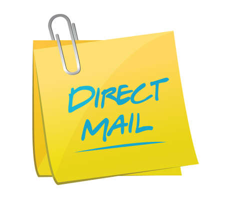 direct mail memo post illustration design over a white background