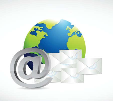 got: internet globe mail concept illustration design over a white background