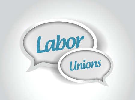 labor unions message bubbles illustration design over a white background Ilustração