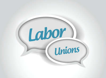 multilevel: labor unions message bubbles illustration design over a white background Illustration