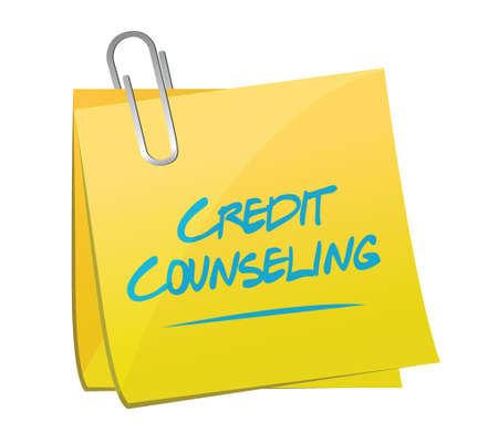 credit counseling memo post illustration design over a white background 向量圖像