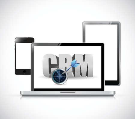 electronics crm sign illustration design over a white background Vector
