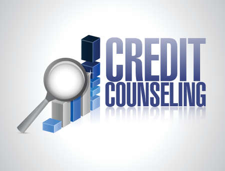 creditors: credit counseling review illustration design over a white background