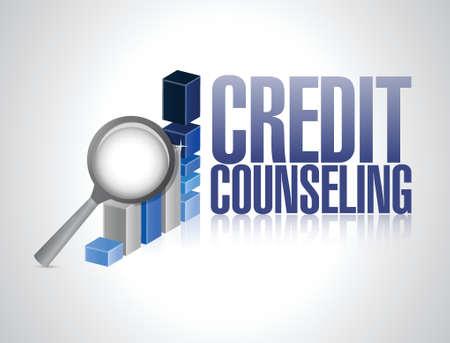 bankrupt: credit counseling review illustration design over a white background