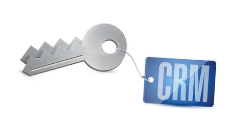 suppliers: crm key tag illustration design over a white background
