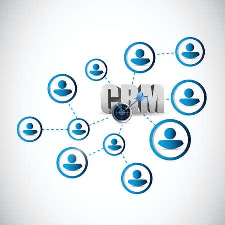 people crm network illustration design over a white background Illustration
