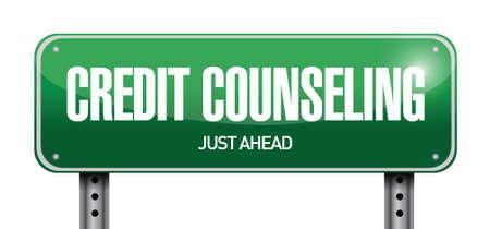 bankrupt: credit counseling sign illustration design over a white background