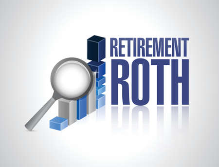 roth: retirement roth business under review concept illustration design over a white background Illustration