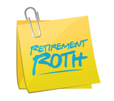 memo: retirement roth memo post illustration design over a white background