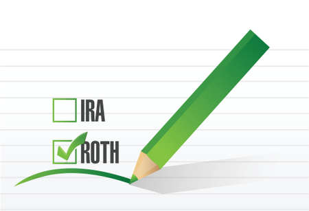 roth: roth check list selection illustration design over a white background