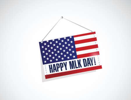 martin: Martin Luther King dzień nam wisi flaga projektowania ilustracji na białym tle