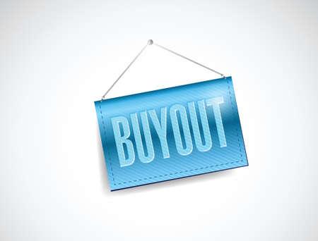 buyout hanging banner illustration design over a white background Stock Vector - 35105007