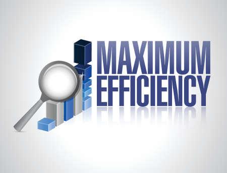 maximale efficiëntie zakelijke grafiek illustratie ontwerp op een witte achtergrond
