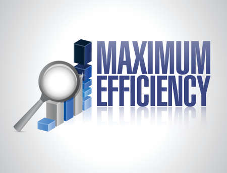 maximum efficiency business graph illustration design over a white background