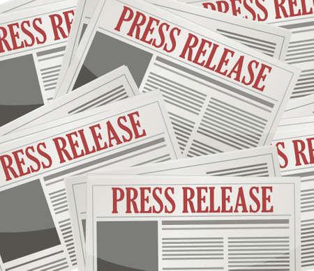 stack of documents: press releases newsletters background illustration design artwork