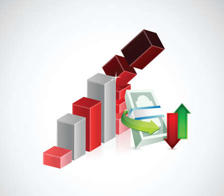 monetary concept: falling monetary concept illustration design over a white background Illustration