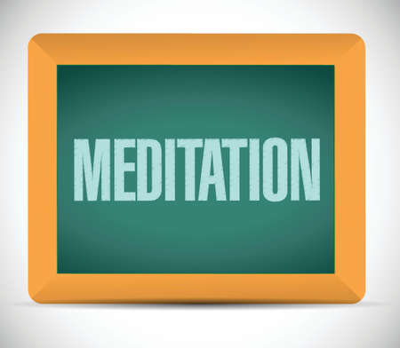 meditation board sign illustration design over a white background