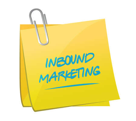 inbound marketing: inbound marketing memo post illustration design over a white background