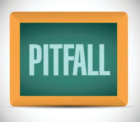 pitfall: pitfall board sign illustration design over a white background